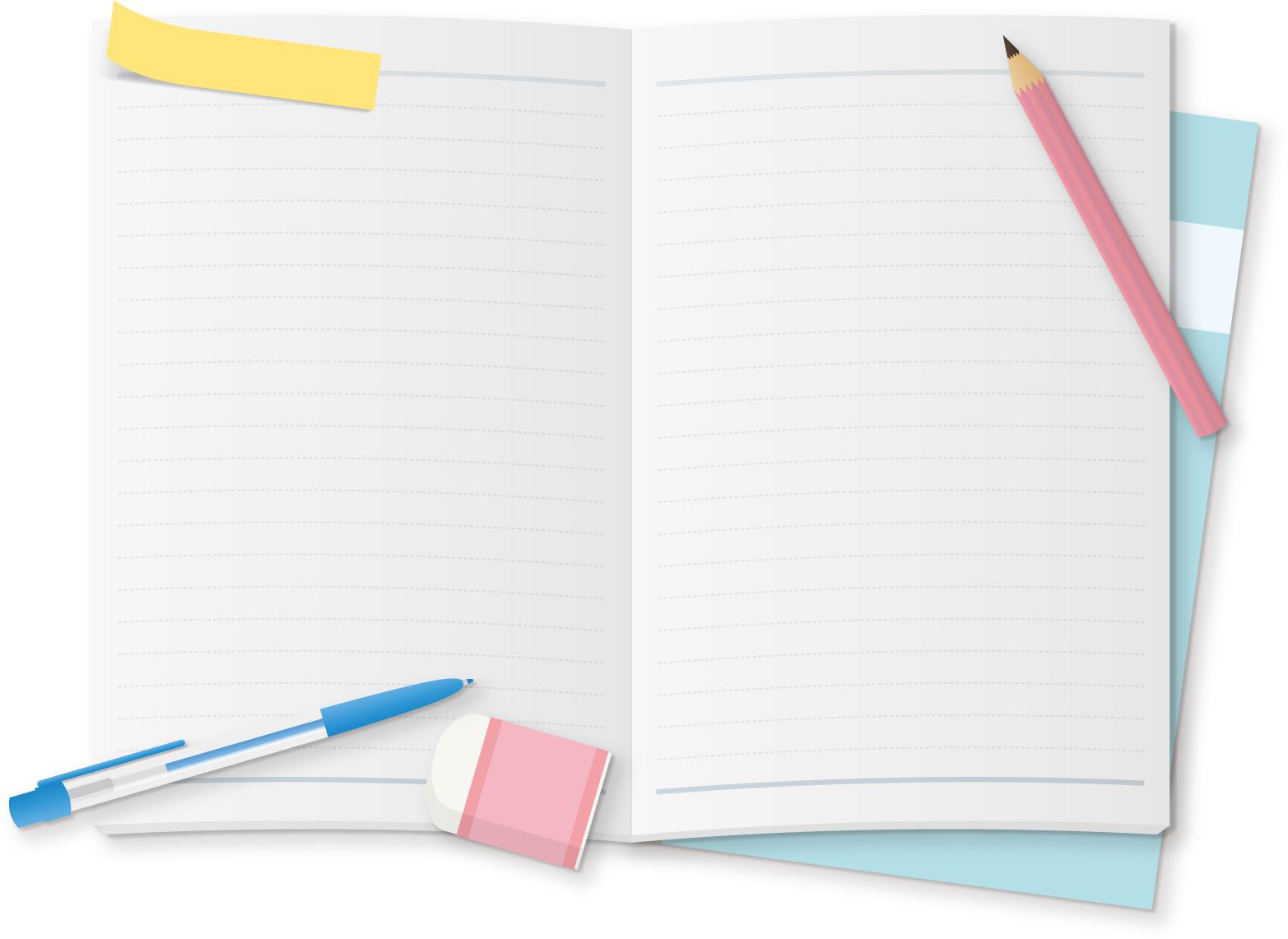 白紙のノートブック